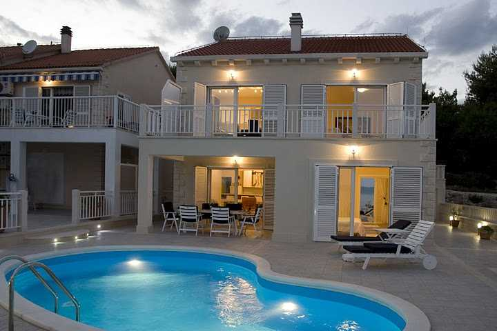 Luxusvilla mit pool grundriss  Ferienhaus Sumartin Insel Brac Villa Swimming Pool Urlaub Brac
