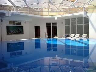 Heated sea water swimming pool